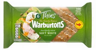 Warburtons 6 White Sandwich Thins
