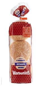 Warburtons 6 Seeded Burger Buns