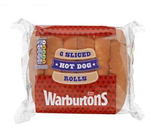 Warburtons 6 Hot Dog Rolls