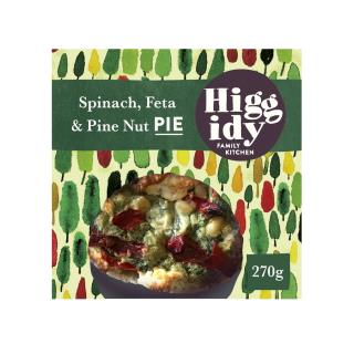 Higgidy Spinach Feta and Toasted Pine Nut Pie