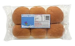Warburtons 6 Scottish Morning Rolls