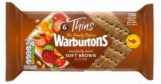 Warburtons 6 Brown Sandwich Thins