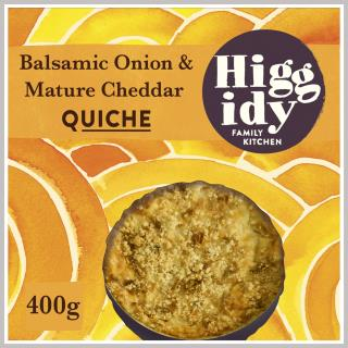 Higgidy Balsamic Onion and Mature Cheddar Quiche