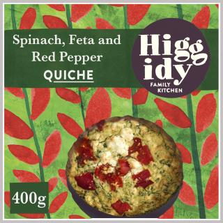 Higgidy Spinach, Feta and Roasted Red Pepper Quiche