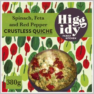 Higgidy Crustless Spinach, Feta and Roasted Red Pepper Quiche