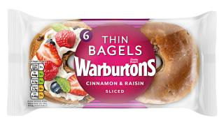 Warburtons Cinnamon and Raisin Thin Bagels