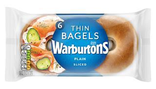 Warburtons Plain Thin Bagels