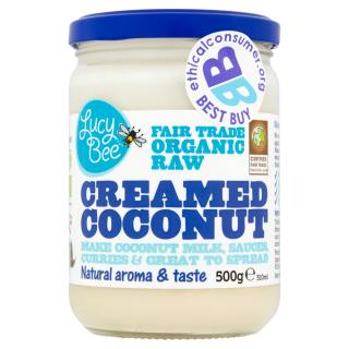 Lucy Bee Fair Trade Organic Raw Creamed Coconut