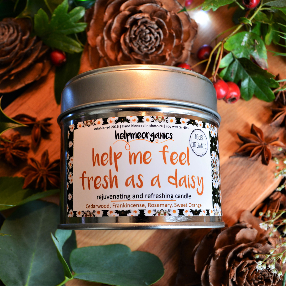 Help me feel fresh as a daisy Soy Candle