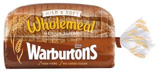 Warburtons Medium Sliced Wholemeal Bread 800g