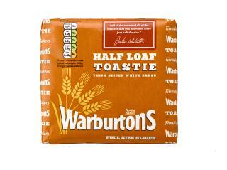 Warburtons White Half Loaf Toastie 390g