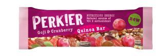 PERKIER Goji & Cranberry Quinoa Bar, 35g