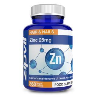 Zinc 25mg 360 tablets