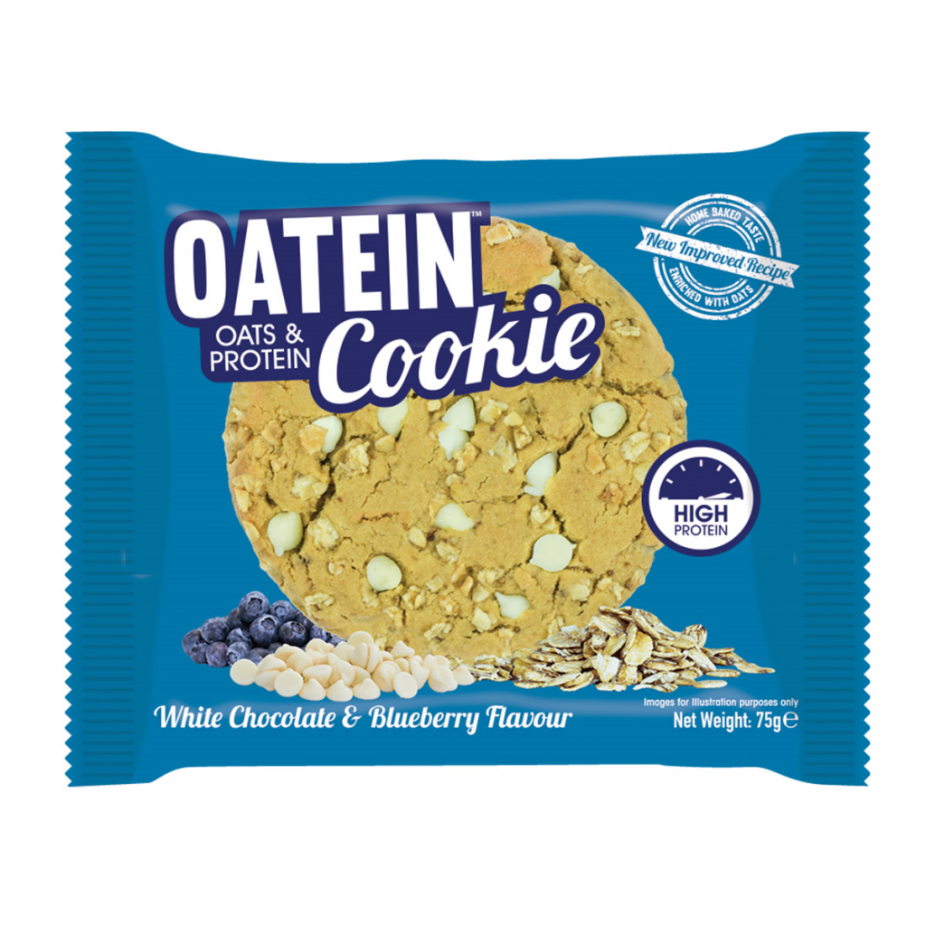 Oatein Cookie – White Chocolate & Blueberry Flavour