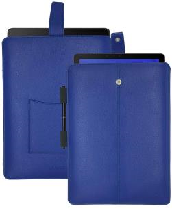 NueVue Samsung Galaxy Tab S French Blue Faux Leather Sanitizing Screen Cleaning Case