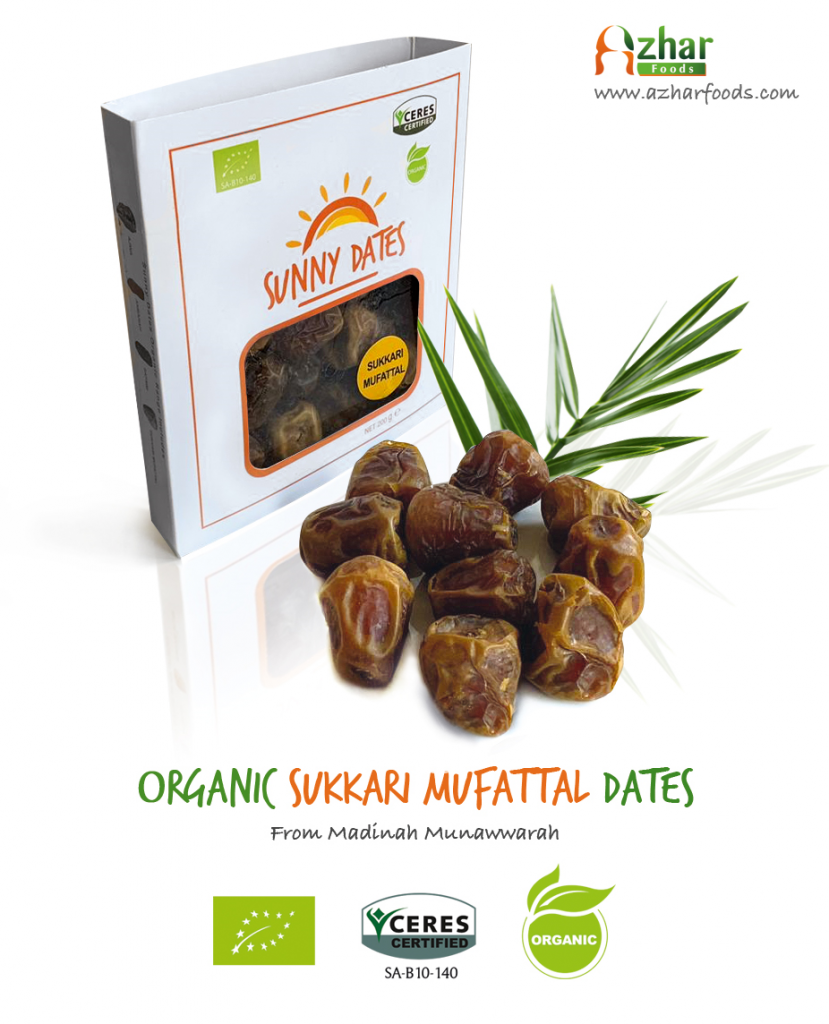 Organic Sukkari Dates from Saudi Arabia