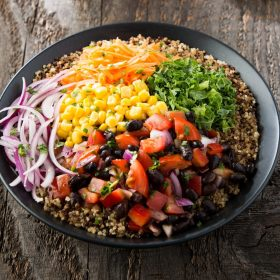 Black Bean Chilli Burritos Bowl