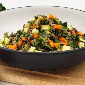 Quinoa, Lentil, Kale and Smoky Almond Salad