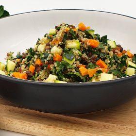 Quinoa, Lentil, Kale and Smoky Almond Salad