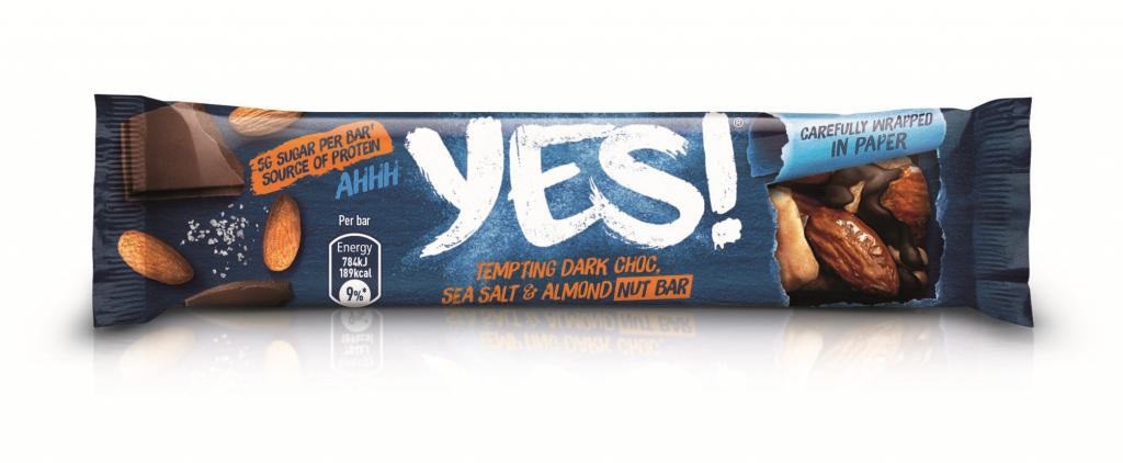 YES! Sea Salt, Dark Choc and Almond Nut Bar