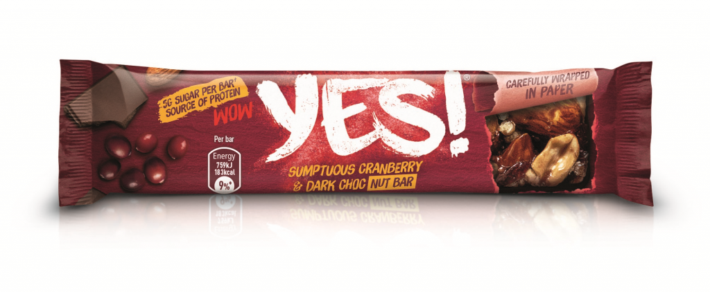 YES! Cranberry, Dark Choc and Nut Bar