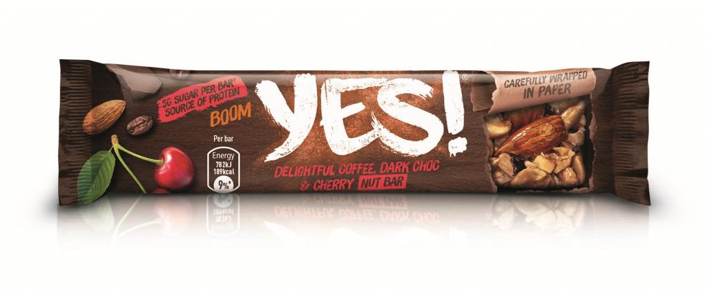 YES! Coffee, Cherry, Dark Choc and Nut bar