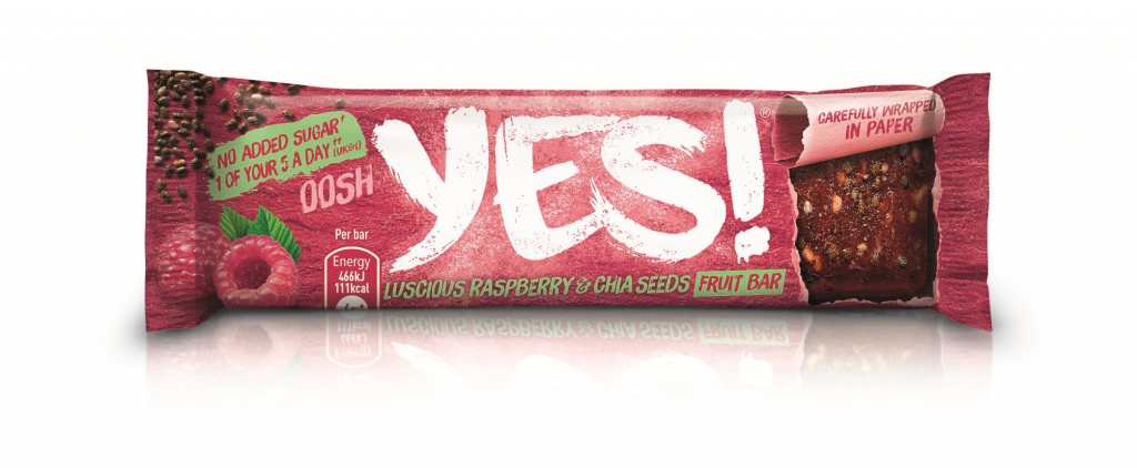 YES! Raspberry and Chia Seed Fruit Bar