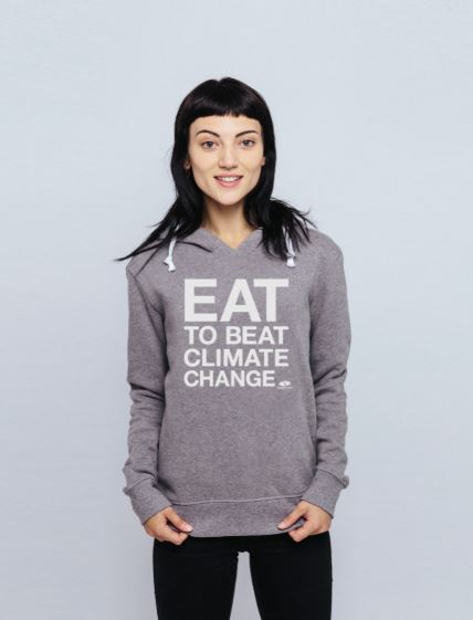 Eat to Beat Climate Change Fitted Hoodie
