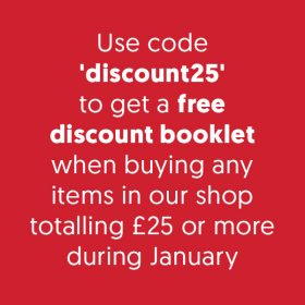 Free discount book during January