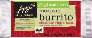 Amy's Kitchen Gluten Free Cheddar, Rice and Bean Burrito