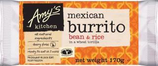 Amy's Kitchen Bean & Rice Burrito UK