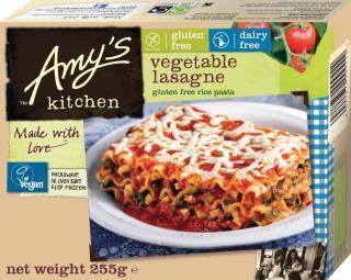 Amy's Kitchen Gluten Free Dairy Free Vegetable Lasagne