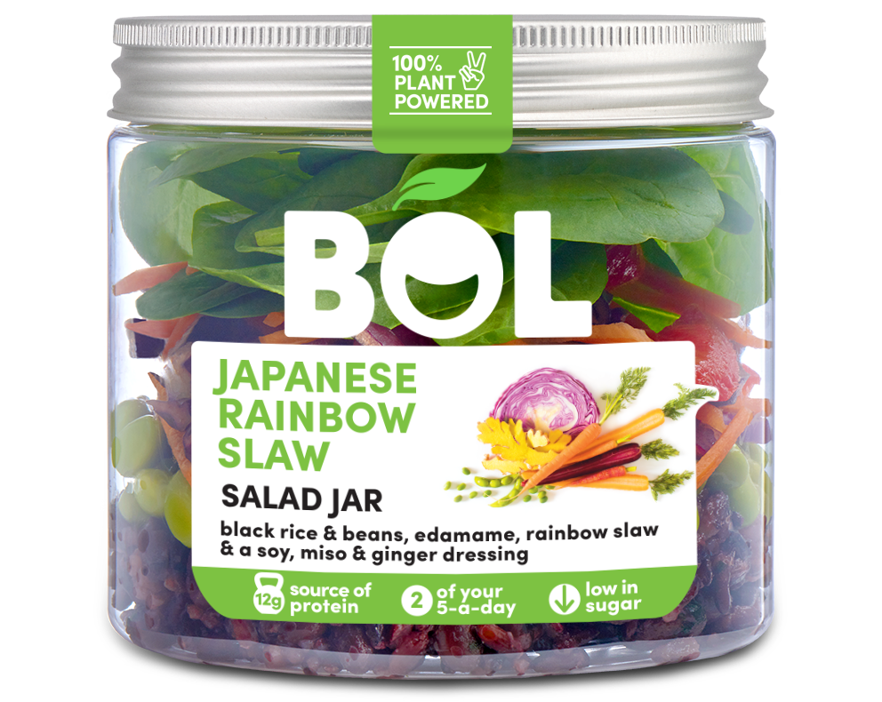BOL Japanese Rainbow Slaw Salad Jar