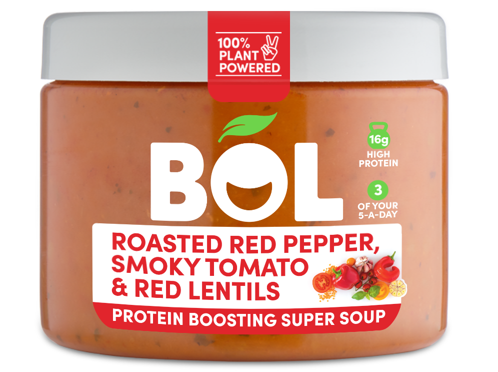 BOL Roasted Red Pepper, Smoky Tomato & Red Lentils Protein Boosting Super Soup
