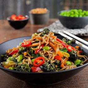 Japanese Yakisoba with Spring Vegetables