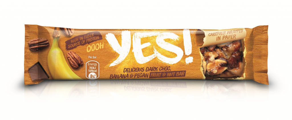 YES! Banana and Pecan Fruit and Nut Bar