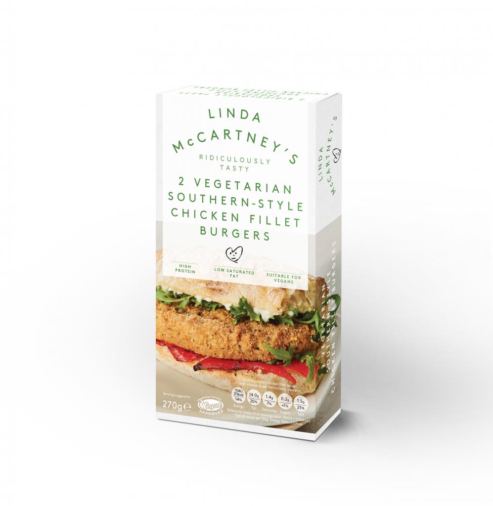 Linda McCartney's 2 Vegetarian Southern-Style Chicken Fillet Burgers