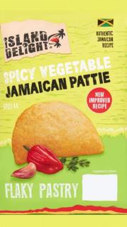 Island Delight Spicy Vegetable Flaky Pasty Pattie