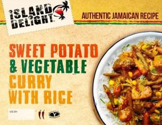 Island Delight Sweet potato curry with rice 400g