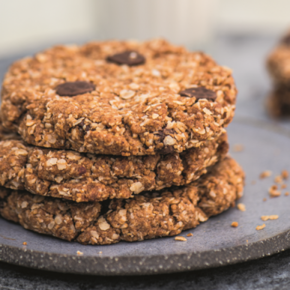 Chewy Oat Chocolate Chip Cookies