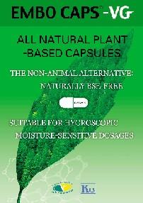 EMBO CAPS® – VG Vegetable Capsules (HPMC)