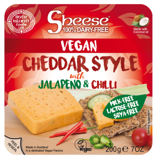 Cheddar Style with Jalapeno and Chilli Soya Free Sheese