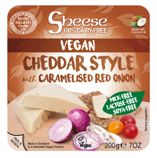 Cheddar Style with Red Caramelised Onion Soya Free Sheese