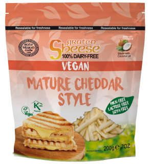 Grated Mature Cheddar Style Soya Free 2KG