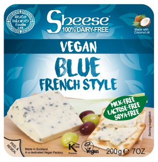Blue French Style Soya Free Wedge