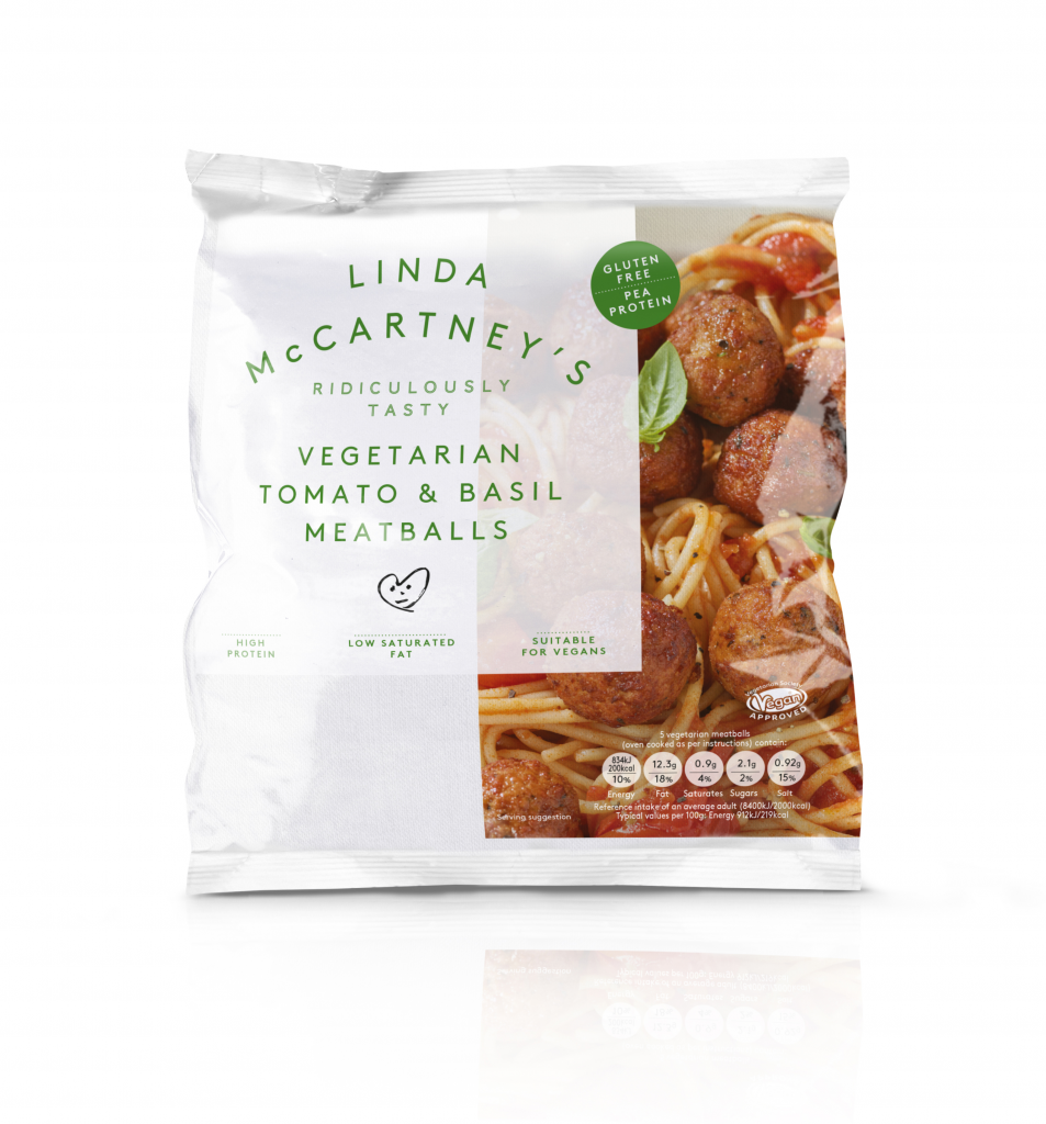 Linda McCartney's Vegetarian Tomato & Basil Meatballs