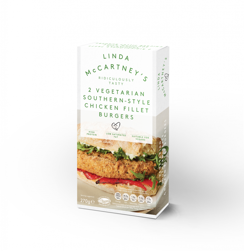 Linda McCartney's 2 Vegetarian Southern-Style Chicken Fillet Burgers