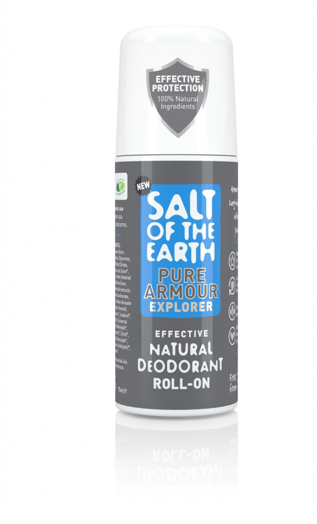 Salt of the Earth Pure Armour Vetiver & Citrus Natural Roll On Deodorant 75ml