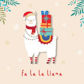 Christmas Cards – Fa La La Llama