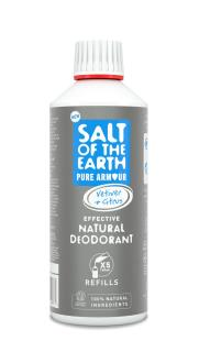 Salt of the Earth Pure Armour Vetiver & Citrus Natural Deodorant  – Spray Refill 500ml